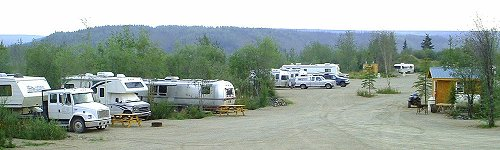 A panorama of the Chicken Gold Camp - Chicken, Alaska
